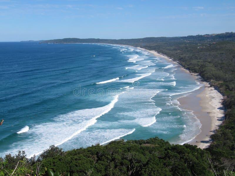 Byron Bay Sandy Beach Australia image stock