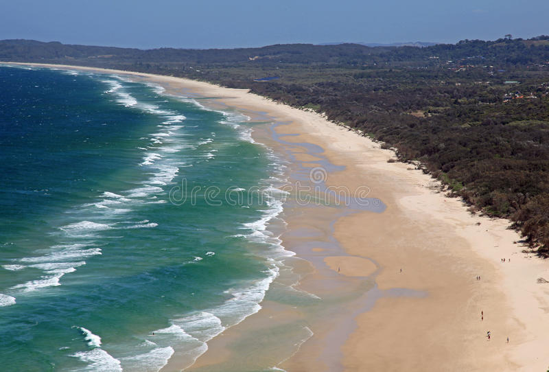 Byron Bay. View from the Cape Byron Bay Lighthouse stock photo