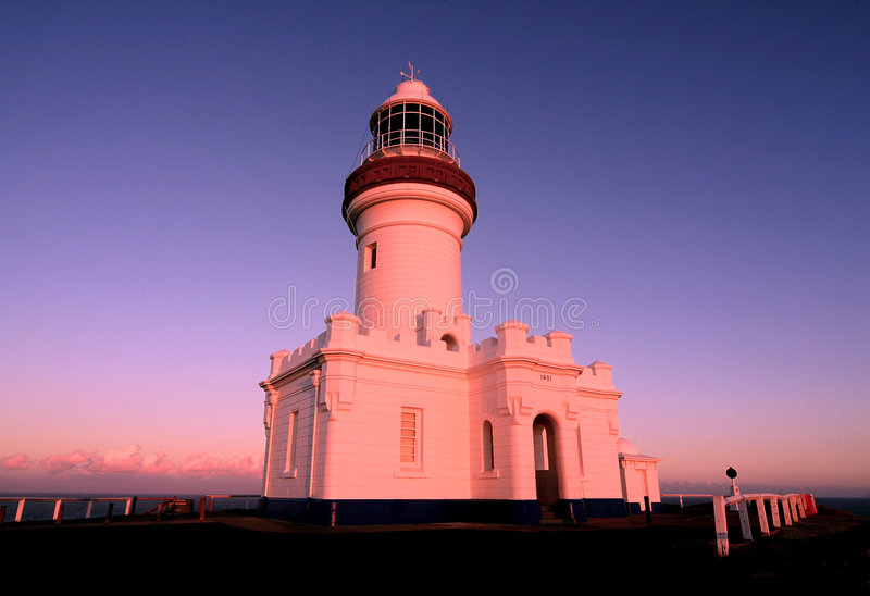 Byron Lighthouse. A photo of Byron Bay Lighthouse far north NSW Australia late afternoon stock photography