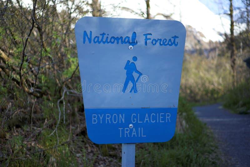 Byron lodowa ślad obrazy stock