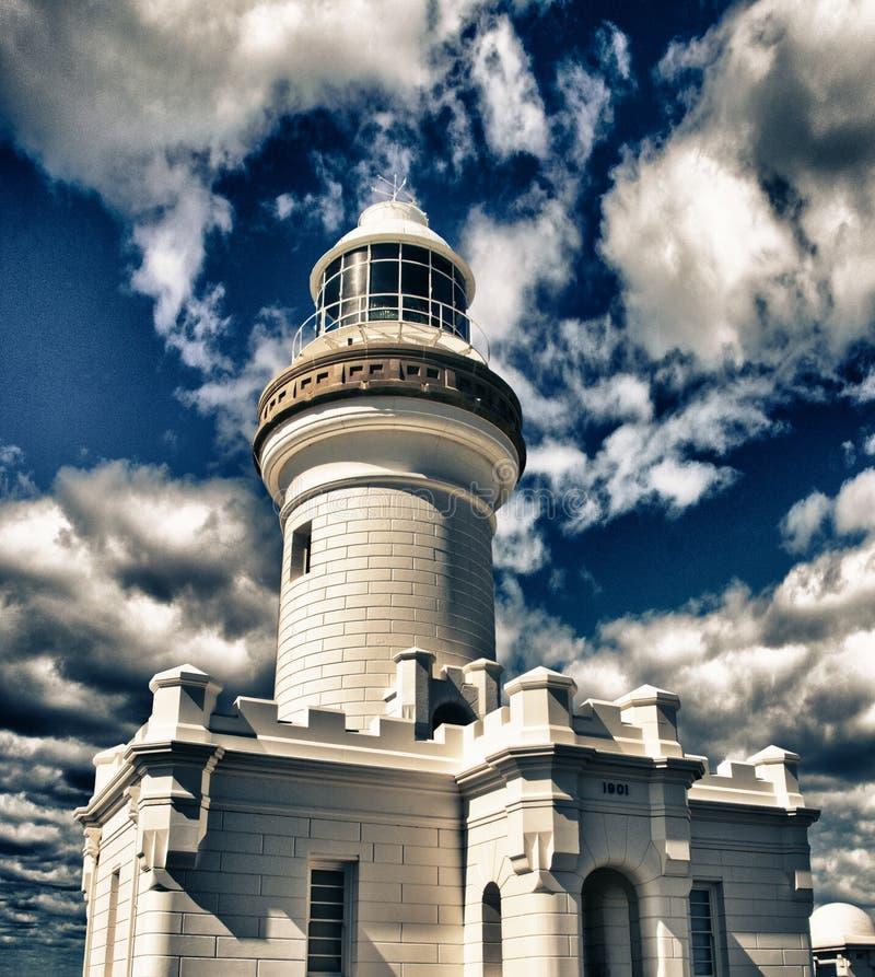 Byron Schacht-Leuchtturm, Australien lizenzfreies stockbild