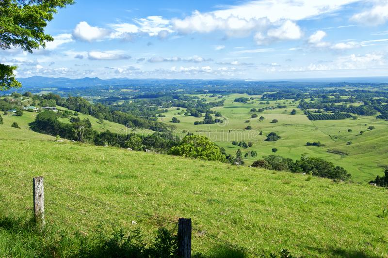 Byron Shire landscape in the sumer. In Australia stock photos