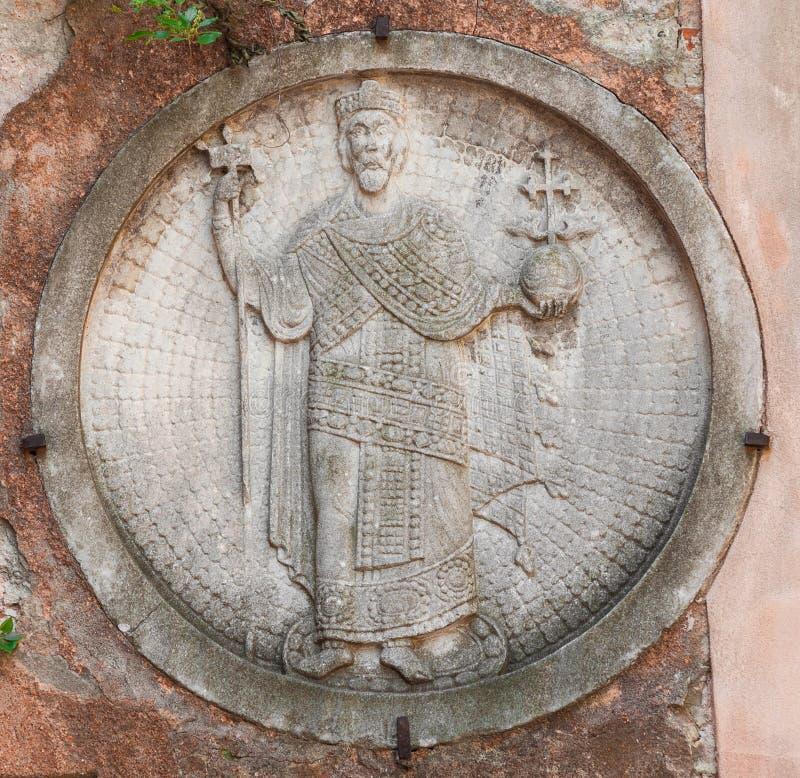Bysantinsk kejsare i Venedig fotografering för bildbyråer