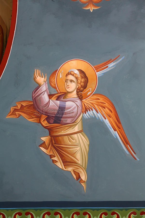 Bysantinska frescoes arkivbilder