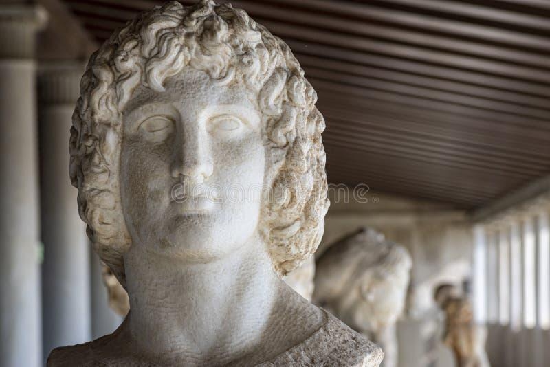 Byst av den grekiska guden Hercules royaltyfri foto