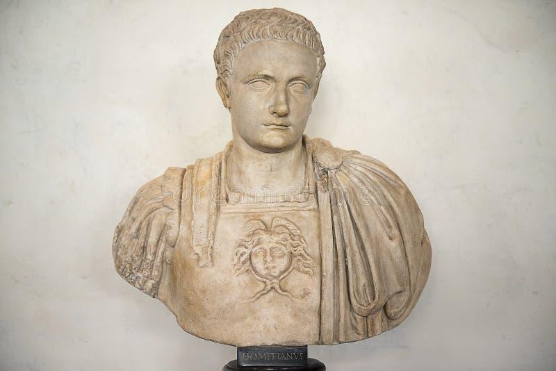 Byst av Domitian, Uffizi galleri, Florence arkivbild