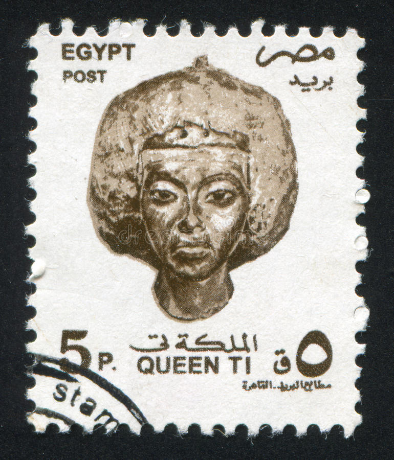 Byst av drottningen Tiye royaltyfria foton