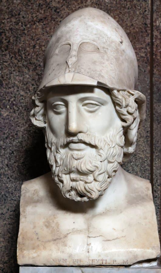 Byst Av Pericles Arkivfoton