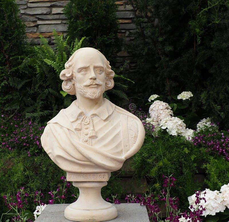 Byst av William Shakespeare fotografering för bildbyråer