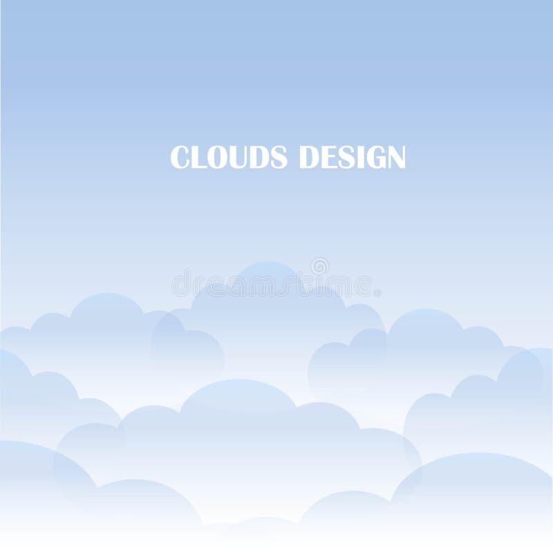 bystry tła niebo Błękit i biel chmurniejemy na niebieskim niebie wektor ilustracji