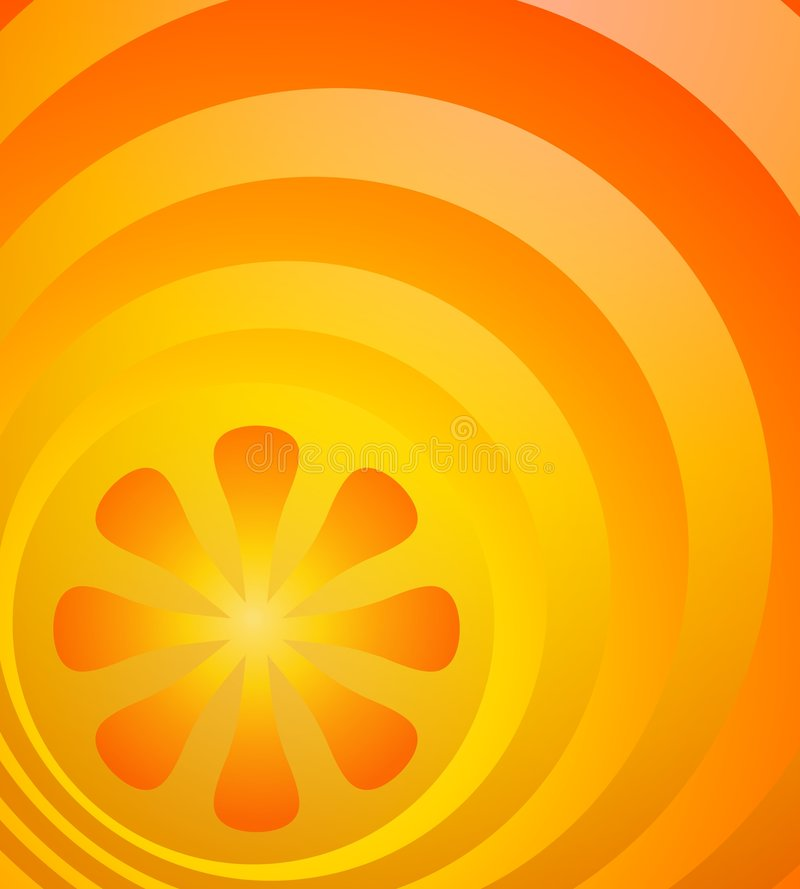 bystry tła pomarańczowe światła royalty ilustracja