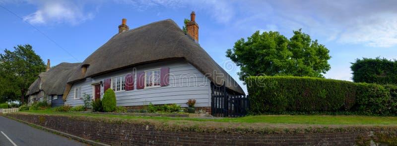 Bystugor i picturesque-byn Southwick nära Fareham i Hampshire, Förenade kungariket fotografering för bildbyråer