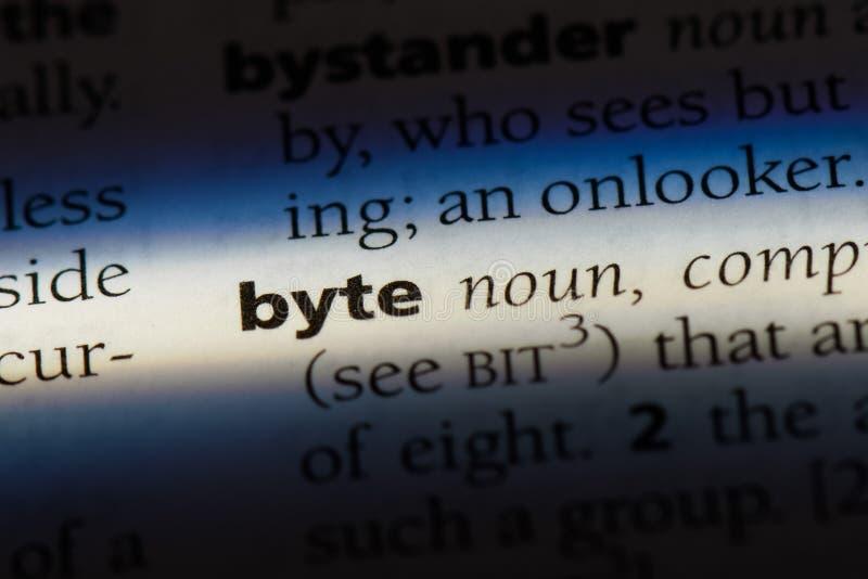 byte imagem de stock