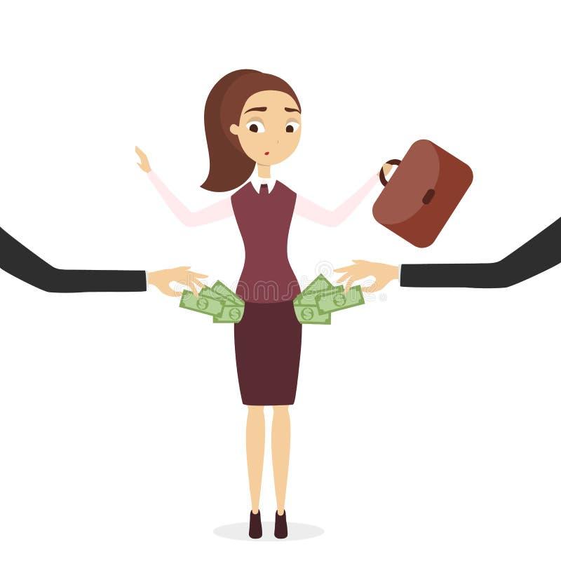 Byte av pengar stock illustrationer