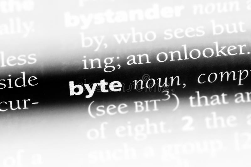 Byte. Word in a dictionary.  concept stock photos