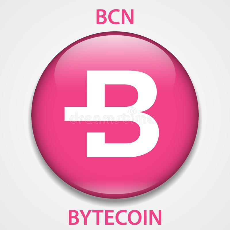 Bytecoin Coin cryptocurrency blockchain icon. Virtual electronic, internet money or cryptocoin symbol, logo.  vector illustration