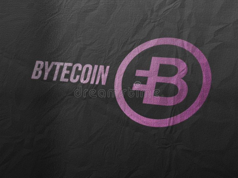 Bytecoins cryptocurrency i nowożytny bankowości pojęcie ilustracja wektor