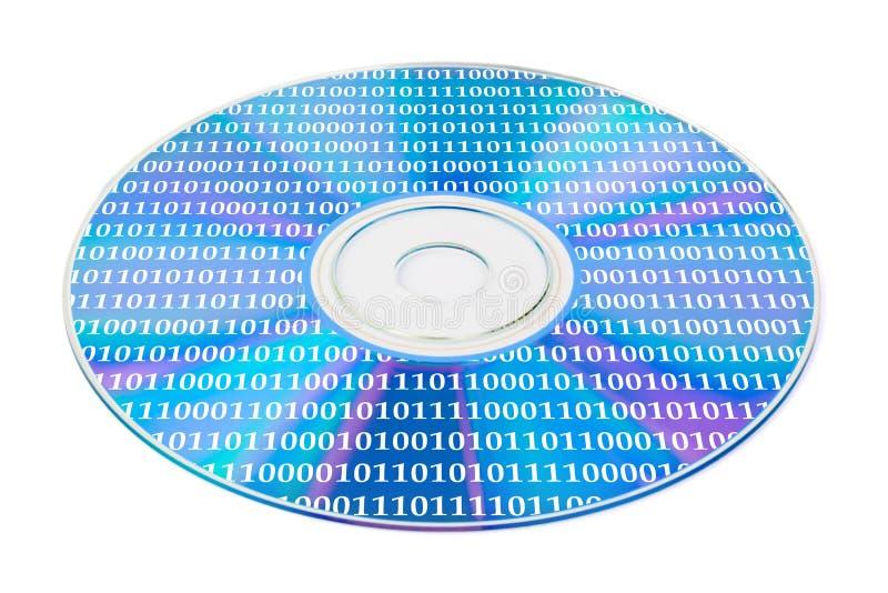 Bytes no disco do computador fotografia de stock