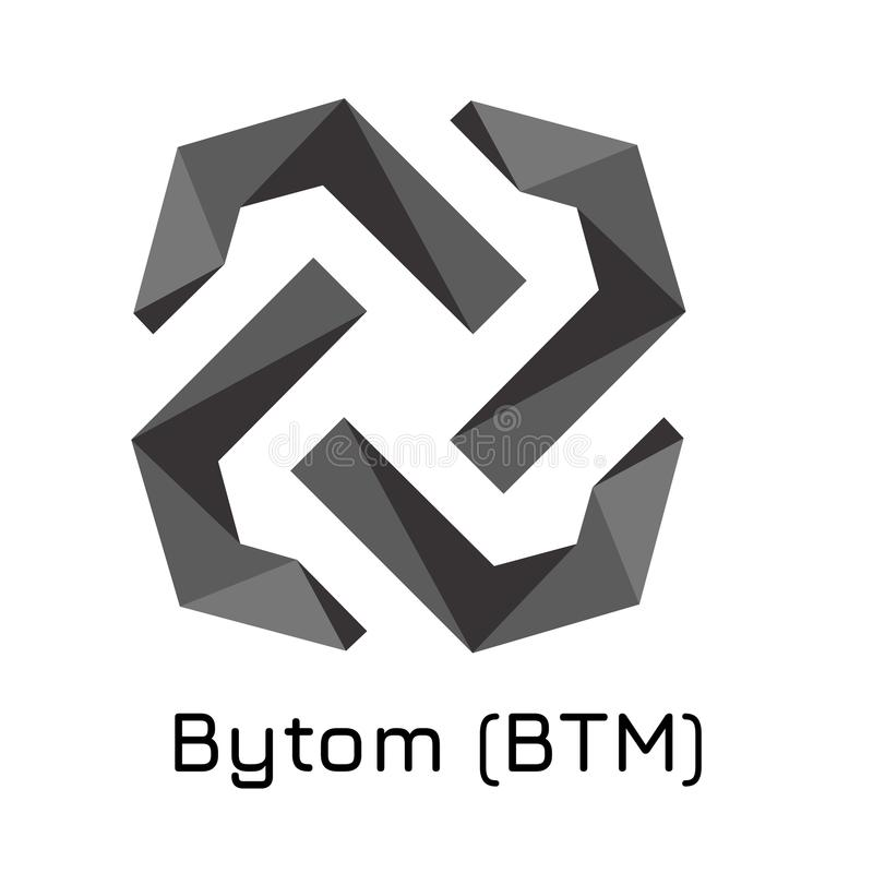 Bytom BTM Icono crypto de la moneda del ejemplo del vector stock de ilustración