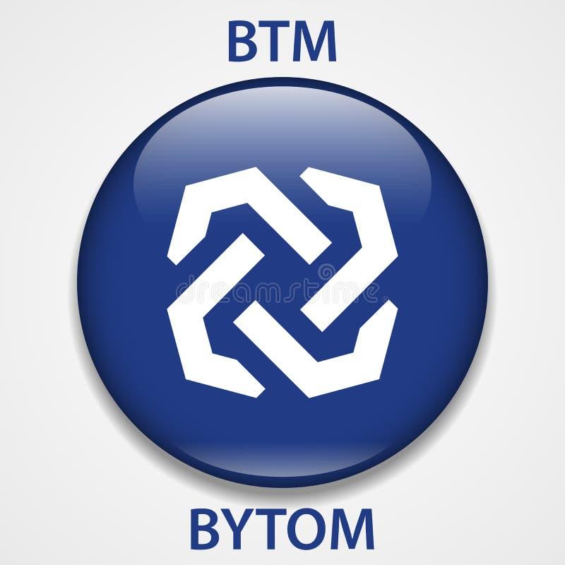 Bytom Coin cryptocurrency blockchain icon. Virtual electronic, internet money or cryptocoin symbol, logo.  royalty free illustration