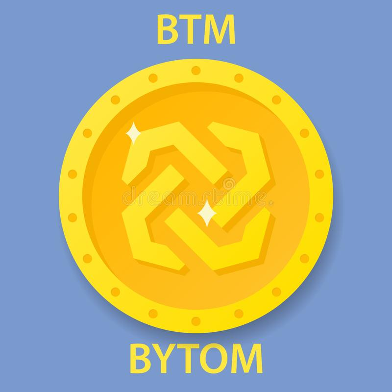 Bytom Coin cryptocurrency blockchain icon. Virtual electronic, internet money or cryptocoin symbol, logo stock illustration