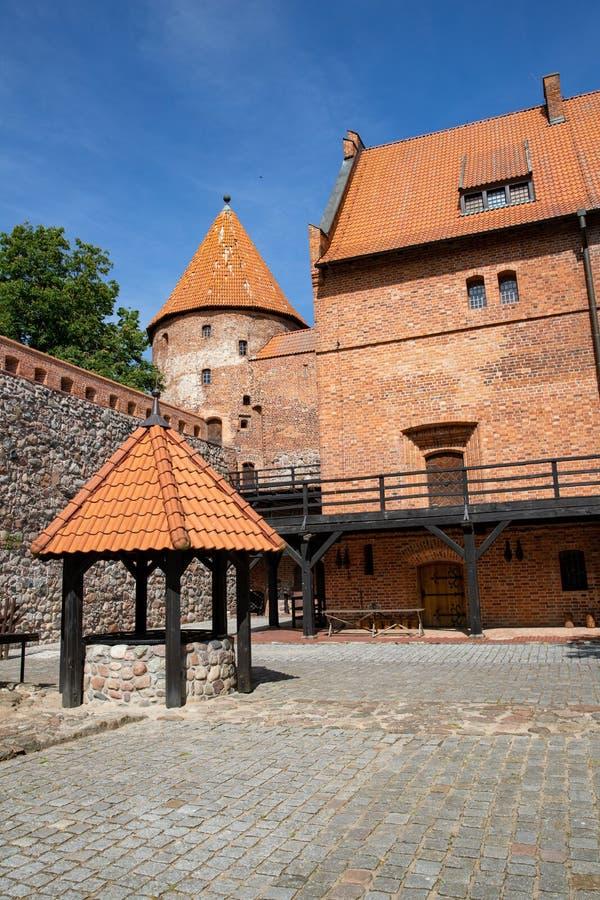 Bytow pomorskie, Polska, Czerwiec,/-, 06, 2019: Miasto Bytow, Teutoński kasztel, muzeum i hotel, zdjęcia stock