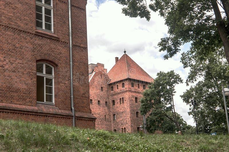 Bytow teutonic kasztel na Kashubia, Polska zdjęcia stock