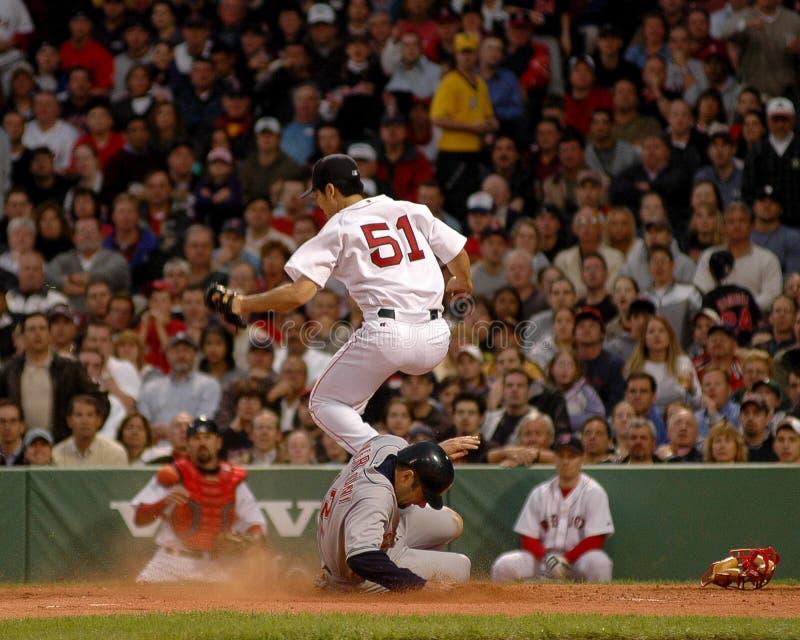Byung-hyun Kim, Boston Red Sox miotacz zdjęcia stock