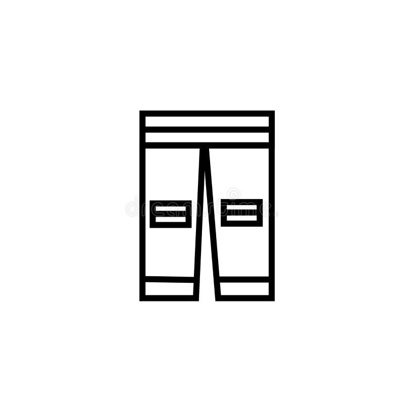 Byx- av ett tecken och ett symbol för fotbollsspelaresymbolsvektor som isoleras på vit bakgrund som är byx- av ett fotbollsspelar vektor illustrationer