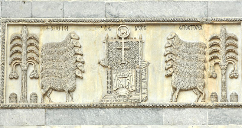 Byzantijns beeldhouwwerk royalty-vrije stock foto's