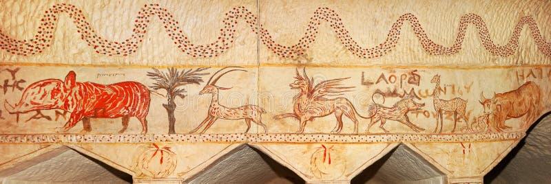 Byzantijnse fresko royalty-vrije stock afbeeldingen