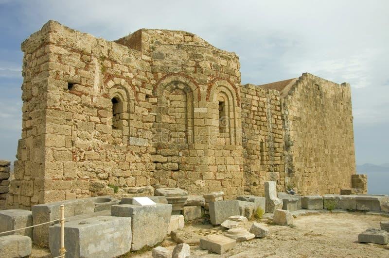 Byzantijnse kerk stock fotografie