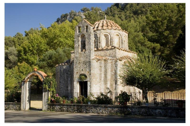 Byzantijnse Kerk in Rhodos, Griekenland. royalty-vrije stock fotografie
