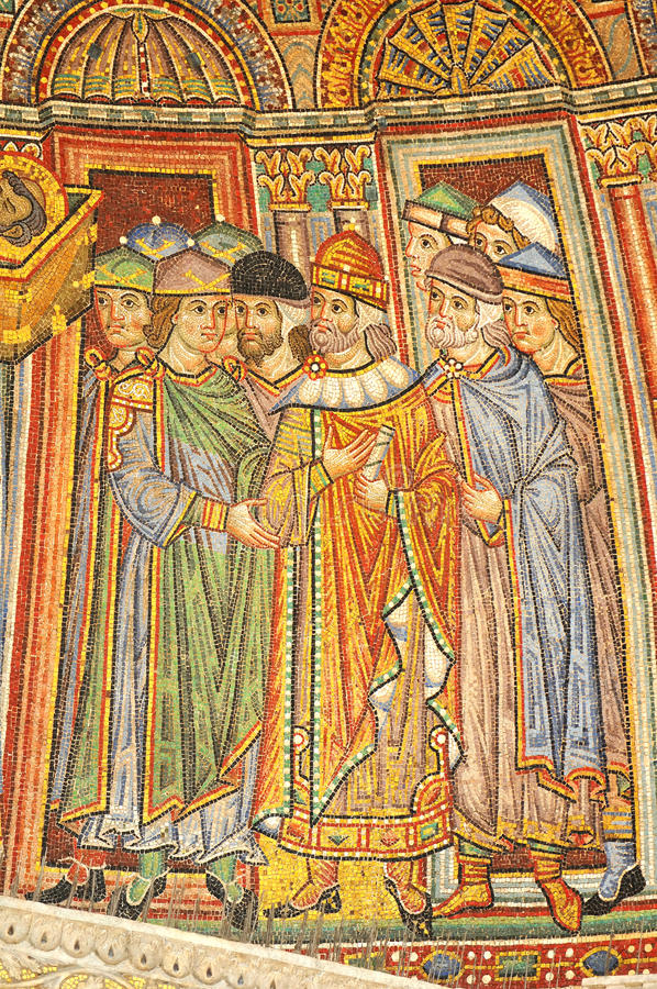 Download Byzantin mosaics stock image. Image of catholic, saintly - 16104309