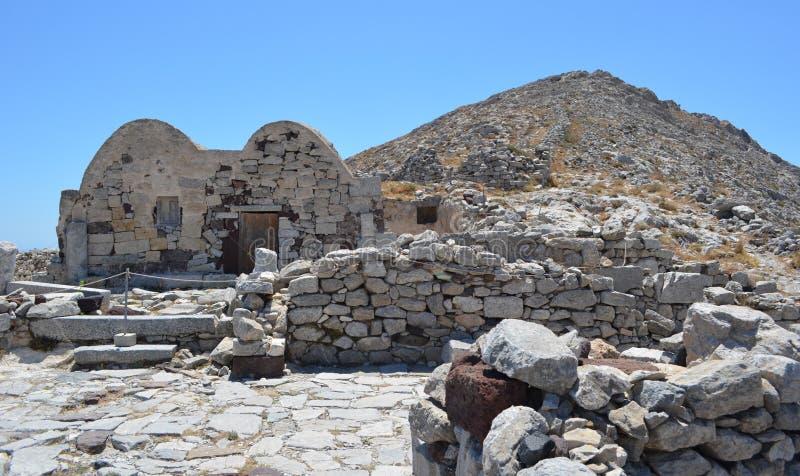 Byzantine Chapel Ancient Thira royalty free stock photo