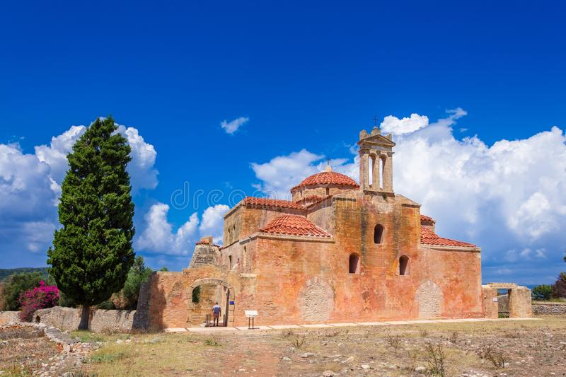 Byzantine church in the Venetian fortress of Pylos in Peloponnese. Byzantine church in the Venetian fortress of Pylos in Peloponnese, Greece stock photos