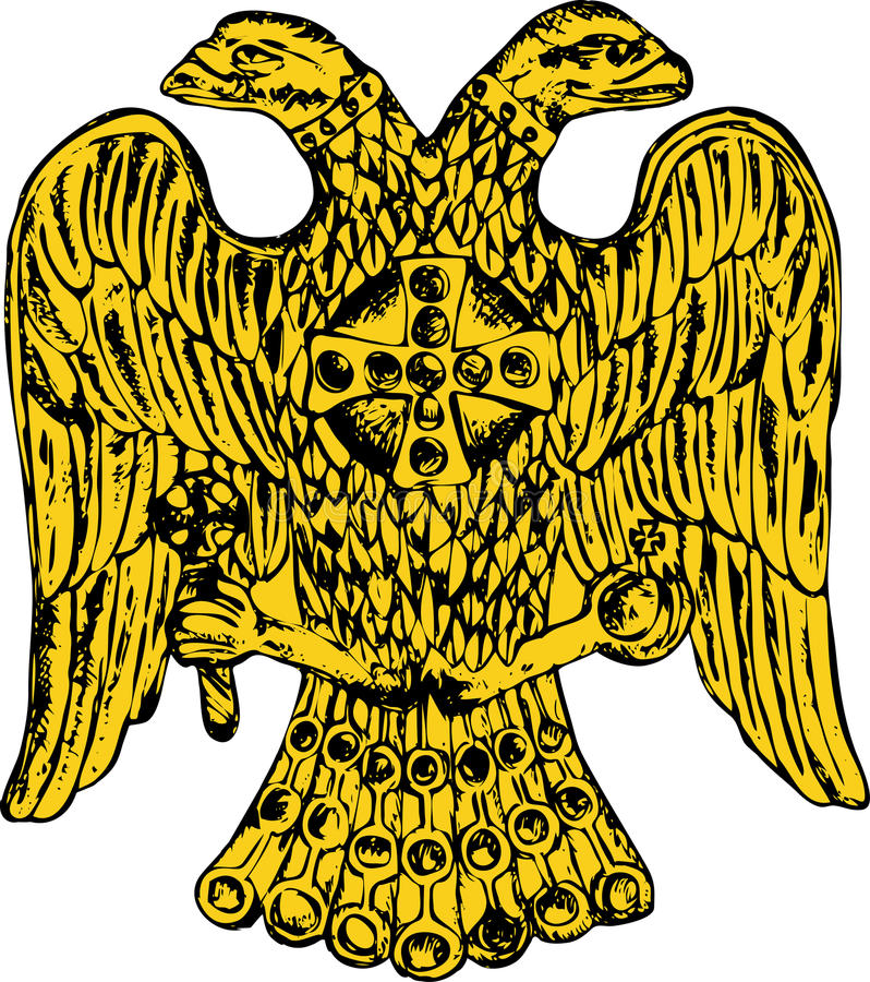 Byzantine double headed eagle royalty free illustration