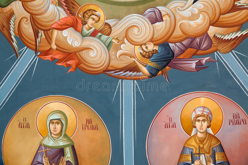 Byzantine frescoes royalty free stock photos