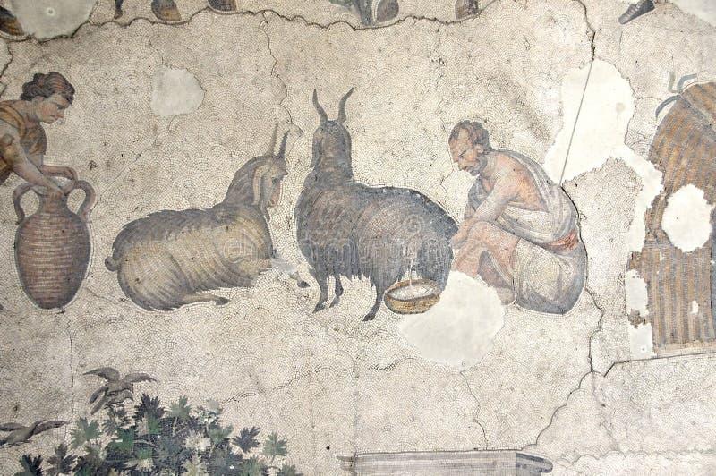 Byzantine mosaic stock image