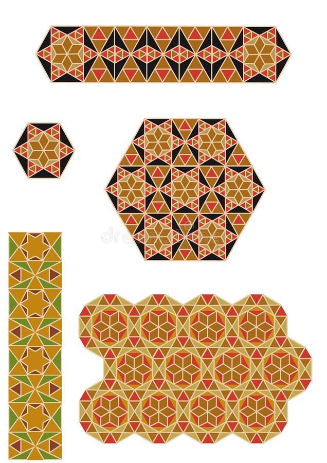 byzantine mozaiki ilustracja wektor