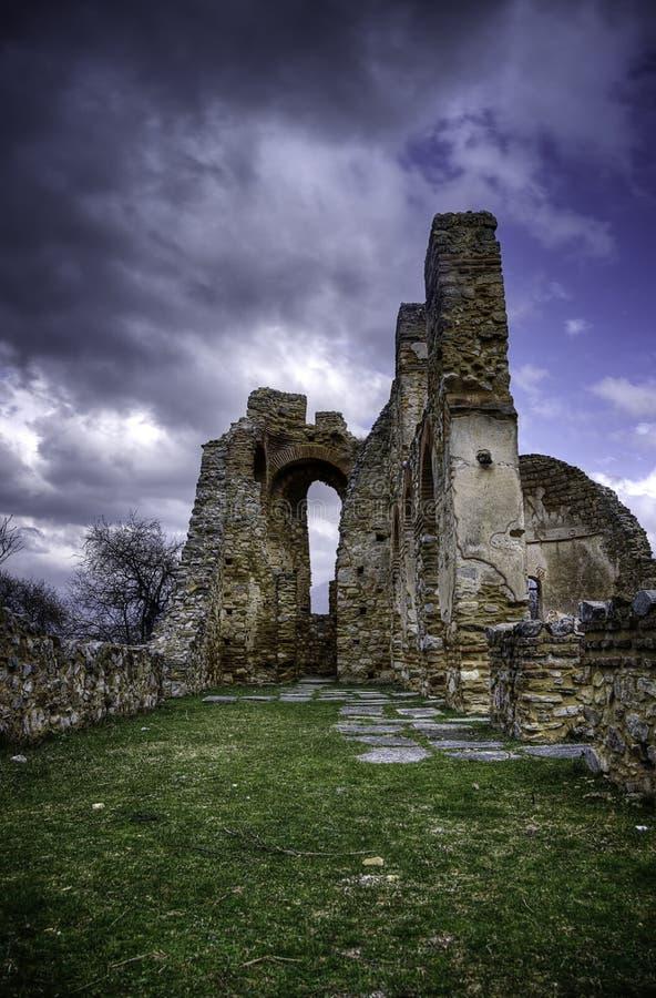 Byzantine ruins royalty free stock photo