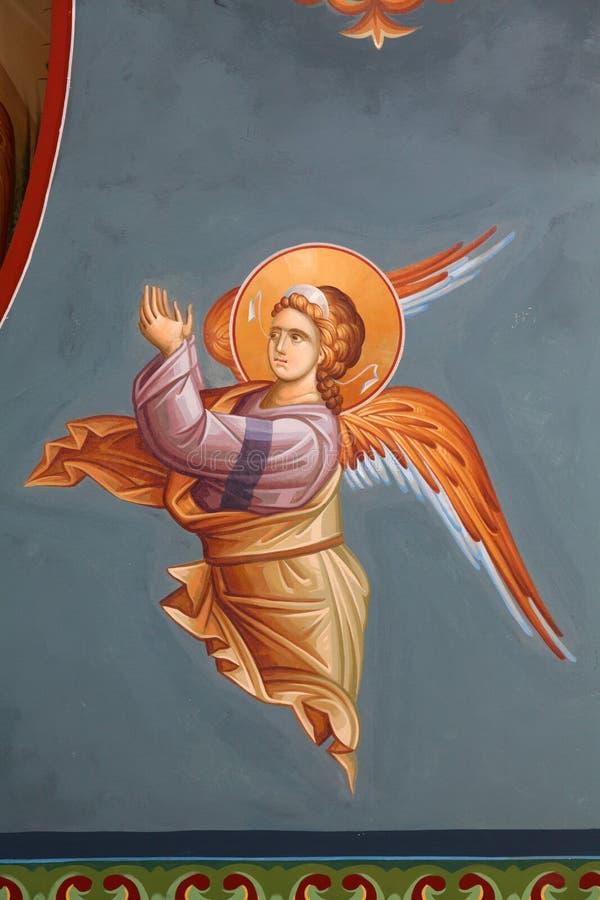Byzantinische Freskos stockbilder