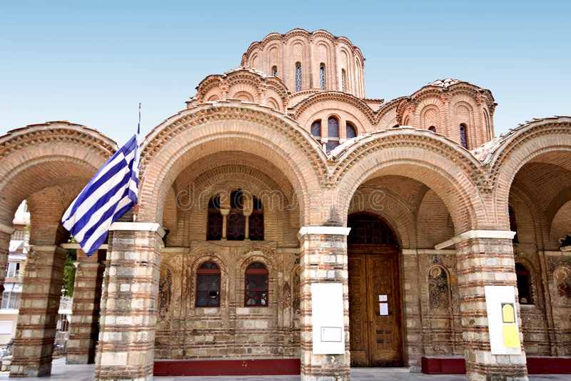 Byzantinische orthodoxe Kirche stockfotografie