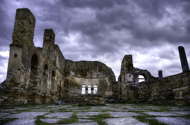 Byzantinische Ruinen stockfotos