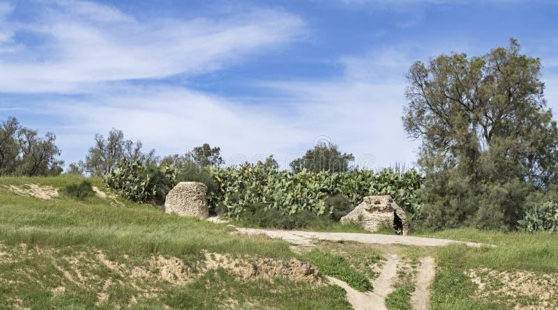 Byzantinische Zisternen im Negev in Israel lizenzfreies stockbild