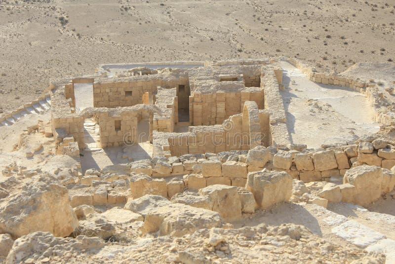Byzantinisches Haus in Avdat alt, die Nabatean-Stadt stockbild