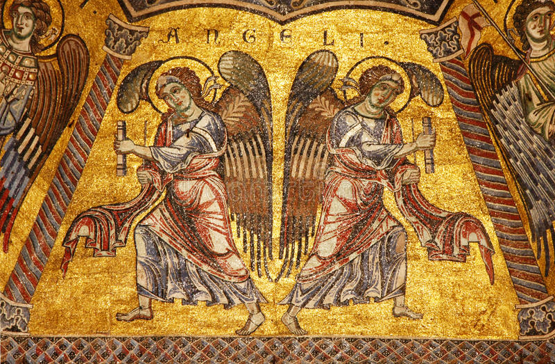Byzantinisches Mosaik im Baptistery in Florenz lizenzfreie stockfotografie