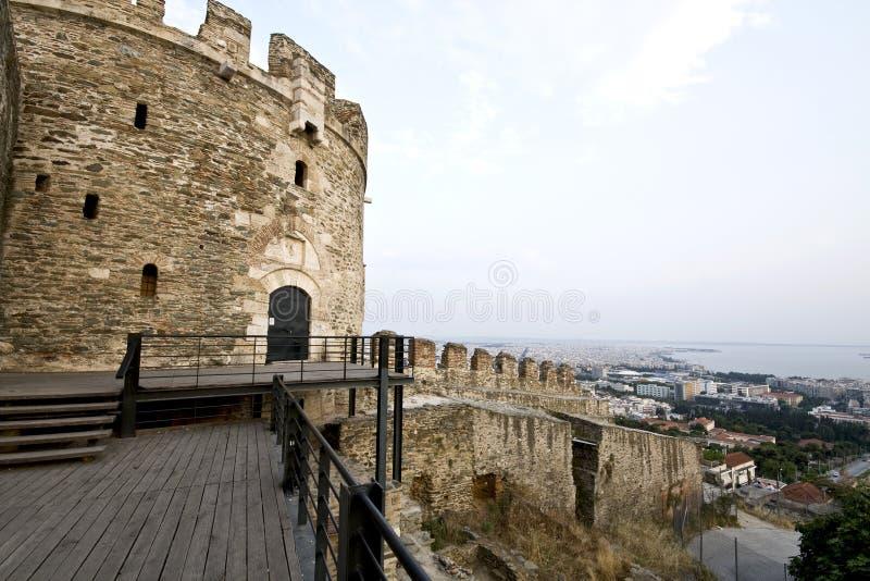 Byzantinisches Schloss in Griechenland stockfoto