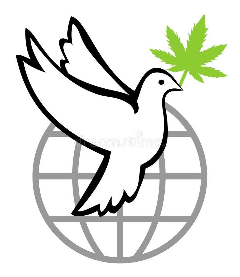 Cáñamo para un mundo pacífico stock de ilustración