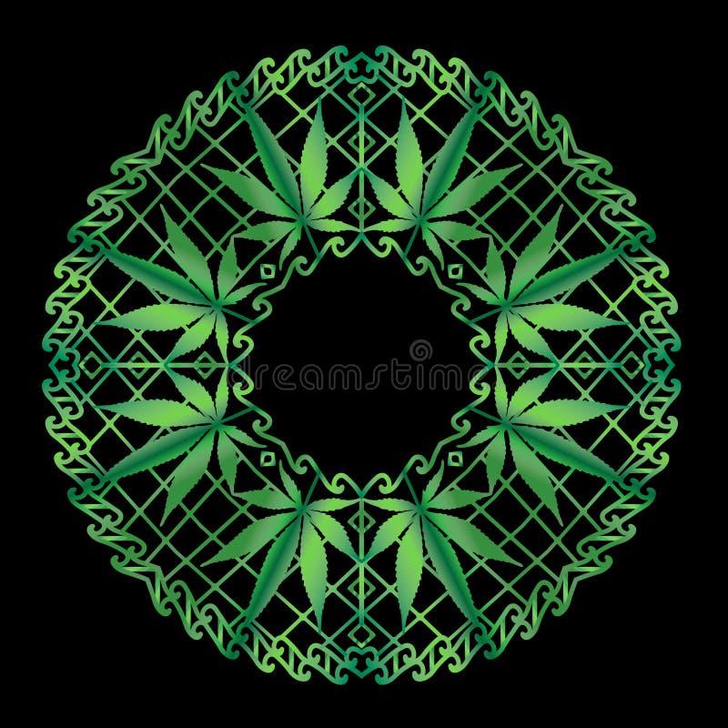 Cáñamo Zen Mandala en verde libre illustration